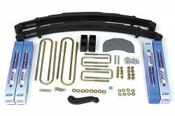 "F350 Monobeam 4WD - 1980-1996 - BDS Suspension - BDS Suspension 4"" Suspension Lift Kit for 1980-1996 Ford/F350 4WD pickup trucks with monobeam front axle - 308H"