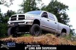 "DODGE - 2003-08 Dodge 3/4 Ton Pickup - BDS Suspension - BDS Suspension 8"" Long Arm Kit for 2008 3/4 Ton & 1 Ton 4WD Pickup   -641H"