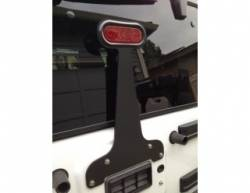 GraBars - 3rd Brake Light Bracket - Plain with LED Light fits 07-15 Jeep Wrangler JK