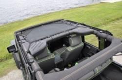 GEARSHADE - HalfShade Jeep Wrangler JKU 4 Door 07-15 GearShade Pocket Top  -HSJKU - Image 2