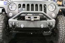 Jeep Wrangler JK 07-18 - Front Bumpers & Stingers - IRON CROSS - IRON CROSS Front Stubby Bumper for Jeep Wrangler JK 07-16 - WITH BAR - GP-1200