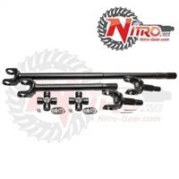 Nitro Gear & Axle - Nitro 4340 Chromoly Front Axle Kit (W/ Factory Locker) Dana 44,Jeep Wrangler TJ & LJ Rubicon, 27/30 Spl, with Nitro Excalibur Joints