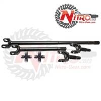 4340 Chromoly Axle Shafts - Dana 30 - Nitro Gear & Axle - Nitro 4340 Front Axle Upgrade Kit (Use with Aftermarket Locker) Dana 30, Jeep Cherokee XJ, Wrangler YJ TJ, Grand Cherokee ZJ & Comanchee MJ, 30 Spl Upgrade, with 760X joints