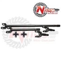 4340 Chromoly Axle Shafts - Dana 44 - Nitro Gear & Axle - Nitro 4340 Front Axle Kit Dana 44, 74-79 Wagoneer, Drum, 19/30 Spl, with 760X joint