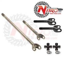 4340 Chromoly Axle Shafts - Dana 60 - Nitro Gear & Axle - Nitro 4340 Front Axle Kit Dana 60, 78-79 Ford Sno-Fighter, 35 Spl, with Nitro Excalibur joint