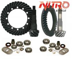 Nitro Gear & Axle - NITRO 4.56 Ring & Pinion Gear Change Package For 07-09 Toyota FJ Cruiser, 03-09 4Runner/Prado 120, 05 & Up Hilux - WITHOUT OEM E-Lockers ONLY - FITS 3.73 Carrier Case ONLY   -GPFJCRUISER-4.56-1