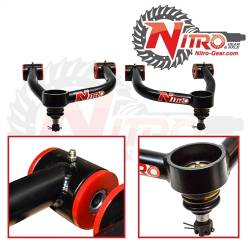 Nitro Gear & Axle - Control Arms - Nitro Gear & Axle - Nitro Upper Control Arms (Pair) for 1998-2007 Toyota Land Cruiser, Extended Travel Ball joint style   -JTOUCA-TLC100-BJ