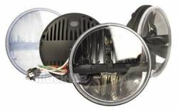 "Shop By Brand - Truck-Lite - Truck-Lite - Truck-Lite 7"" Round LED Headlamp - Fits Jeep Wrangler JK TJ CJ or any 7"" Round H4 Style - PAIR"