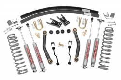 "Rough Country - Rough Country 1984-2001 Jeep XJ Cherokee 4.5"" Suspension Lift Kit with Add-a-Leafs   -623N2"