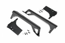 Light Mounts - JEEP - Rough Country - JEEP WRANGLER TJ 97-06 UPPER WINDSHIELD LED LIGHT BAR MOUNTS   -70503