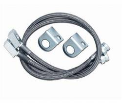 """Builder Parts - Brake Lines - Rubicon Express - Rubicon Express BRAKE LINE SET SS FRONT 28"""" 87-95 Jeep Wrangler YJ  -RE1555"""