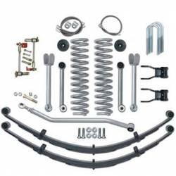 "Suspension Lift Kits - Jeep Cherokee XJ 84-01 - Rubicon Express - Rubicon Express SUPER-FLEX W/REAR SPRINGS 84-01 Jeep Cherokee XJ 4.5"" (NO SHOCKS)  -RE6130"