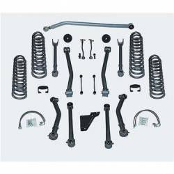 "Suspension Lift Kits - Jeep Wrangler JK 07-18 - Rubicon Express - Rubicon Express SUPER-FLEX SHORT ARM KIT 07-16 Jeep Wrangler JK 4.5"" 4 DOOR (NO SHOCKS)"