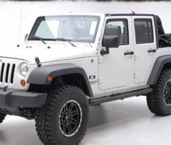 Smittybilt - Smittybilt SRC Classic Rock Rails - 4 DOOR ONLY - Fits 2007 to 2016 JK Wrangler Unlimited and Rubicon Unlimited  -76636 - Image 2
