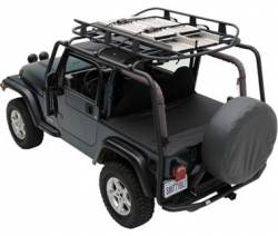 Jeep Rack Systems - Jeep Wrangler JK 07+ - Smittybilt - SRC Roof Rack By Smittybilt - Fits 2007 to 2016 Jeep JK Wrangler and Rubicon - 4 Door   -76717