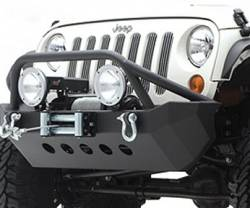 Jeep Wrangler JK 07-PRESENT - Front Bumpers & Stingers - Smittybilt - XRC Armor Front Bumper Jeep JK Wrangler, Rubicon and Unlimited 2007-15 By Smittybilt    -76806