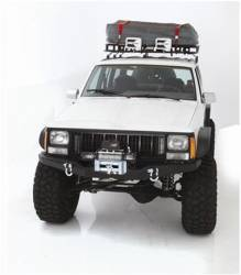 Jeep Cherokee XJ 84-01 - Front Bumpers & Stingers - Smittybilt - XRC Front Bumper 84-01 Cherokee XJ Black Textured Smittybilt