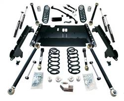 "Jeep TJ Wrangler 97-06 - TeraFlex - TeraFlex - TeraFlex LJ Unlimited 4"" Enduro LCG Long Flexarm Suspension System w/ 9550 Shocks"