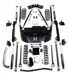 "Jeep TJ Wrangler 97-06 - TeraFlex - TeraFlex - TeraFlex TJ 5"" Pro LCG Long Flexarm Suspension System w/ High Steer & 9550 Shocks"