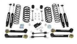 "Jeep TJ Wrangler 97-06 - TeraFlex - TeraFlex - TeraFlex TJ 3"" Lift Kit w/ Lower Flex Arms , All (4) 3"" Shocks (Ships in 3 Boxes)"