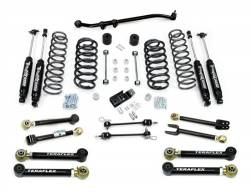 "Jeep TJ Wrangler 97-06 - TeraFlex - TeraFlex - TeraFlex TJ 3"" Lift Kit w/ Flex Arms , All (4) 3"" Shocks, Front Track Bar (Ships in 4 Boxes)"