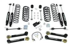 "Jeep TJ Wrangler 97-06 - TeraFlex - TeraFlex - TeraFlex TJ 4"" Lift Kit w/ Lower Flex Arms , All (4) 4"" Shocks (Ships in 3 Boxes)"