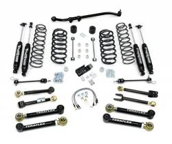 "Jeep TJ Wrangler 97-06 - TeraFlex - TeraFlex - TeraFlex TJ 4"" Lift Kit w/ Flex Arms , All (4) 4"" Shocks, Front Track Bar (Ships in 4 Boxes)"