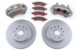 "Brakes & Accessories - TeraFlex - TeraFlex Big Brake KIT Jeep Wrangler JK Front Complete with Big Calipers and 13.3"" SLOTTED Rotors   -4303420"