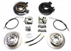 Brakes & Accessories - TeraFlex - TeraFlex 97-06 Jeep Wrangler TJ Rear Disc Brake Conversion Kit w/ E-Brake Cables   -4354425