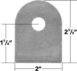 "TRAIL-GEAR Weld On Flat Tab 9/16"" Hole (sets of 10)"