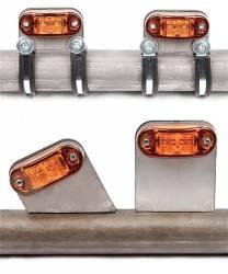 """Lighting - TRAIL-GEAR Lighting - TRAIL-GEAR - TRAIL-GEAR LED Turn Signal Kit Bolt-On 1.5"""" OD Tubing   -180520-KIT"""