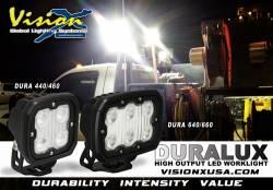 LED LIGHTS - DURALUX - VISION X Lighting - Vision X DURALUX WORK LIGHT 6 LED 40 OR 60 DEGREE WIDE  -XIL-ECM