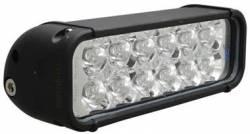 "LIGHT BARS - XMITTER SINGLE STACK - VISION X Lighting - Vision X 8"" LED LIGHT BAR BLACK 12 3W LED'S *Choose EURO or FLOOD Pattern*- XIL-120"