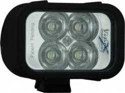 "LIGHT BARS - XMITTER SINGLE STACK - VISION X Lighting - Vision X 4"" XMITTER LED BAR BLACK 4 3W LED'S *Choose EURO or FLOOD Pattern* - XIL-40"