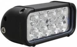 "LIGHT BARS - XMITTER SINGLE STACK - VISION X Lighting - Vision X 6"" XMITTER LED BAR BLACK 8 LED'S *Choose Euro or Flood Pattern*- XIL-80"