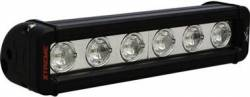 "LIGHT BARS - XMITTER LOW PROFILE XTREME - VISION X Lighting - Vision X 9"" XMITTER LOW PROFILE BLACK 6 5W LED'S 10 OR 40 DEGREE     -XIL-LPX610"