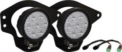 VISION X Lighting - Vision X 02-08 DODGE RAM FOG LIGHT KIT WITH UTILITY MARKET SERIES LED LIGHT    -XIL-OE0210DRUM