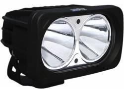 POD LIGHTING - OPTIMUS SERIES - VISION X Lighting - Vision X OPTIMUS SQUARE BLACK 2 10W LEDS 10, 20 or 60 DEGREE SINGLE   -XIL-OP2