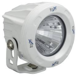 POD LIGHTING - OPTIMUS ROUND - VISION X Lighting - Vision X OPTIMUS ROUND WHITE 1 10W LED 10, 20 or 60 Degree SINGLE   -XIL-OPRW
