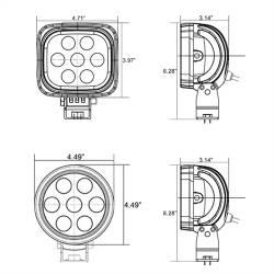 "VISION X Lighting - Vision X 4"" ROUND UTILITY MARKET XTREME BLACK 7 5W LED'S 10, 40 OR 60 DEGREE   -XIL-UMX40 - Image 3"