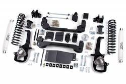 """2009-12 Dodge 1/2 Ton Pickup - Zone Offroad Products - Zone Offroad - Zone Offroad 4"""" IFS Suspension Lift Kit System for 09-11 Dodge Ram 1500 Pickup 4WD - D1 / D23"""