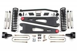 "FORD - 2005-14 Ford F250, F350 Super Duty - Zone Offroad - Zone Offroad 4"" Radius Arm Suspension Lift Kit System 08-10 Ford F250, F350 Super Duty 4WD - F23 / F24"