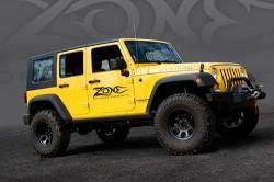"Zone Offroad - Zone Offroad 4"" Jeep Wrangler JK 2 Door/4 Door/Rubicon 07-18 Suspension System Lift Kit - J14N / J15N - Image 2"