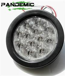 """Lighting - LED Tail & License Plate Lights - Pandemic - Universal 4"""" RED or CLEAR LENSE LED TAIL LIGHT Includes 1 light with SUPER BRIGHT red LED's, and Rubber Grommet Flange - DOT APPROVED STOP / TURN /TAIL LIGHT"""