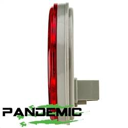 """Pandemic - Universal 4"""" RED or CLEAR LENSE LED TAIL LIGHTS - Includes 2 lights with SUPER BRIGHT red LED's, and Rubber Grommet Flanges - DOT APPROVED STOP / TURN /TAIL LIGHTS - Image 4"""