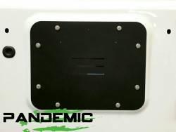 Pandemic Spare Tire Carrier Delete Plate (Aluminum) For Jeep Wrangler JK & JKU 07-18 - PAN-5005 - Image 2
