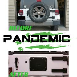Pandemic Spare Tire Carrier Delete Plate (Aluminum) For Jeep Wrangler JK & JKU 07-18 - PAN-5005 - Image 3