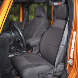 Jeep Seats & Covers - Jeep Wrangler JK Front Seats & Covers - Rugged Ridge - Seat Cover Front Pair, Neoprene, Black, Rugged Ridge, Jeep WranglerJK 11-15  -13215.01