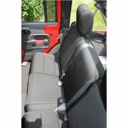 Seat Cover Rear 2-Door Jeep Wrangler JK 07-15 Black  -13265.01