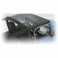 Jeep Tops & Hardware - Jeep Wrangler JK 2 Door 07+ - Rugged Ridge - Summer Pocket Brief Top Mesh, Rugged Ridge, JK Wrangler 07-09 2-Door  -13579.02